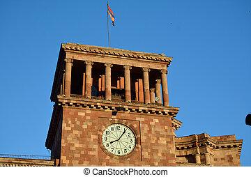 bandera, buikding, armenio, parte