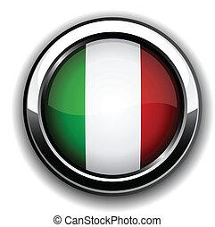 bandera, button., włoski