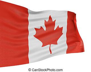 bandera canadá, 3d