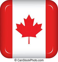 bandera canadá, vector