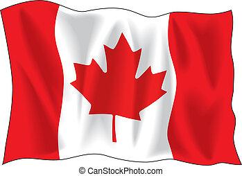 bandera, canadiense