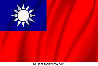 bandera, china, república