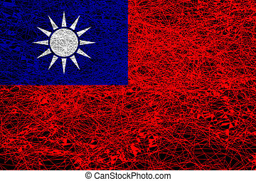bandera, china., república