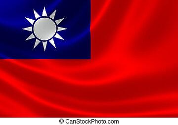 bandera, china), taiwán, (republic