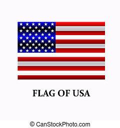 bandera chorągiew, jasny, robiony, usa, button., usa.