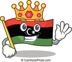 bandera, clings, pared, kingking, libia, mascota