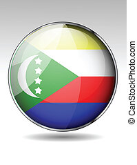 bandera, comoros, icono
