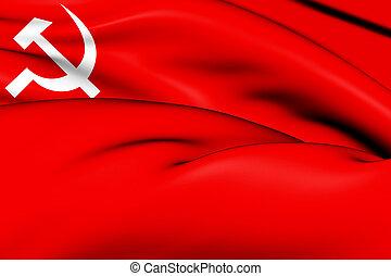 bandera, comunista,  nepal, fiesta