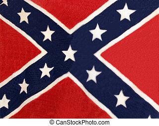 bandera, confederado, poste, no