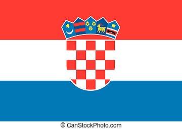 bandera, croacia, ilustración