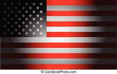 bandera, czarna amerikanka