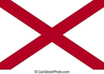 bandera de alabama, estado