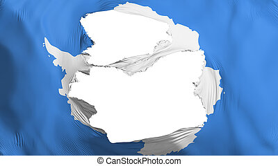 bandera de antarctica, andrajoso