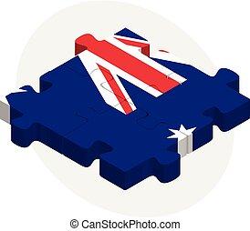 bandera de australia, en, rompecabezas