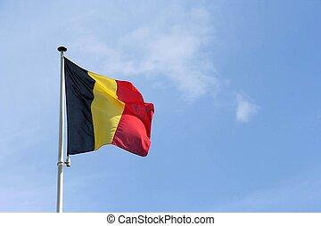 bandera, de, bélgica
