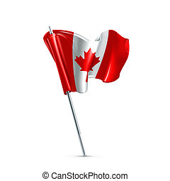 bandera, de, canadá