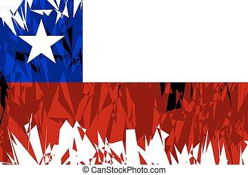 bandera, de, chile.