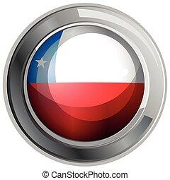 bandera de chile, en, redondo, icono