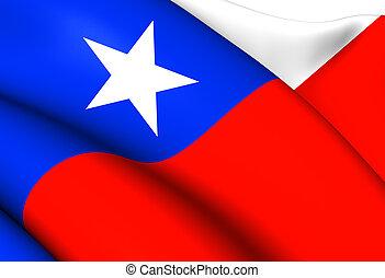 bandera, de, chile