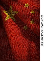 bandera de china, gente, república