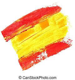 bandera, de, españa