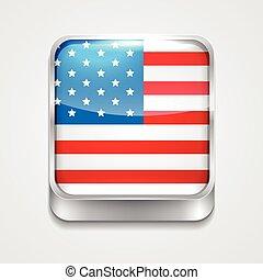 bandera, de, estado unido