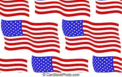 bandera, de, estados unidos de américa, patrón