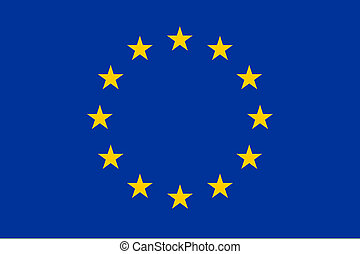 bandera, de, europa