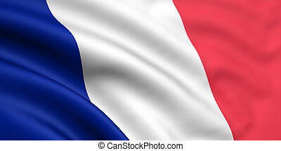 bandera, de, francia