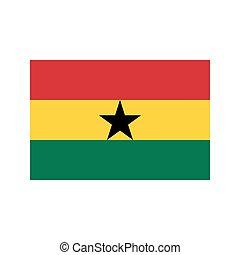 bandera de ghana, ilustración