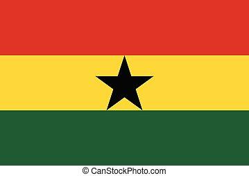bandera de ghana, ilustración, vector