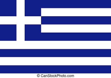 bandera, de, grecia