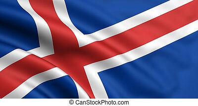bandera, de, islandia