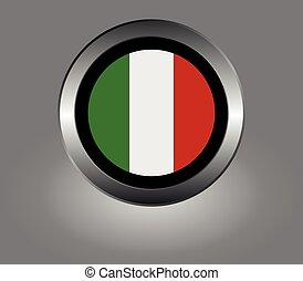 bandera, de, italia