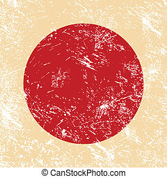 bandera de japón, retro