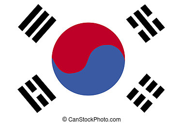 bandera de korean, sur
