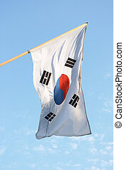 bandera de korean, sur