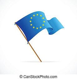 bandera de la unión, vector, europeo