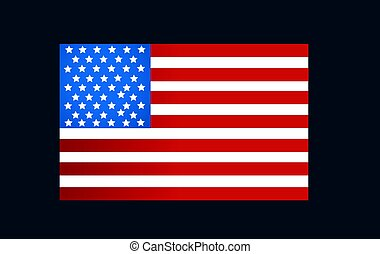 bandera de los e.e.u.u, en, estilo, vector
