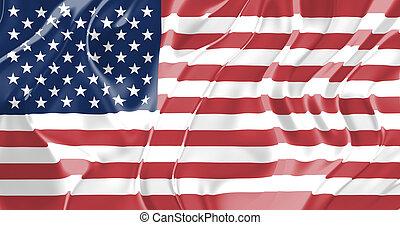 bandera, de, los estados unidos de américa