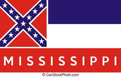 bandera de mississippi, estado
