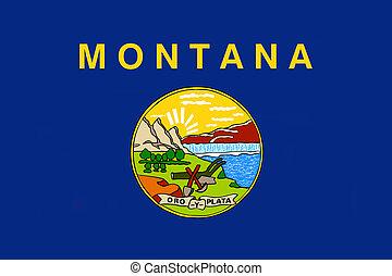bandera, de, montana, u..s.., bandera del estado
