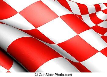 bandera, de, norte, brabante