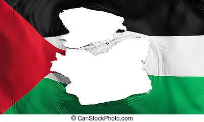 bandera de palestine, andrajoso