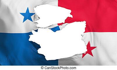 bandera de panamá, andrajoso