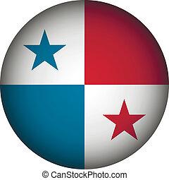 bandera de panamá, button.