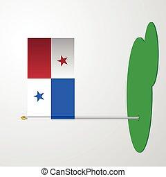 bandera de panamá, poste
