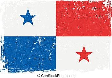bandera de panamá, vector.eps