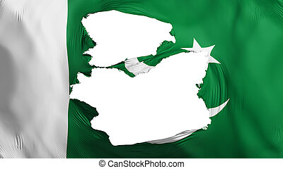 bandera de paquistán, andrajoso