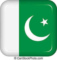bandera de paquistán, vector